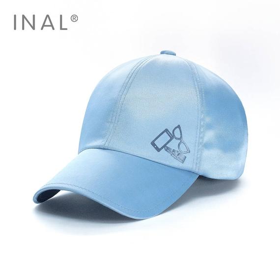 41a32f00282 Silver Silk Baseball Cap Shiny Satin Silvery Cap Atlas Hat