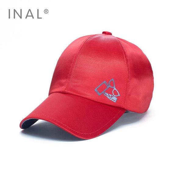 ccbd5ff9e0a Red Silk Baseball Cap Shiny Satin Cap Atlas Hat