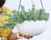 Hanging planter large, Large ceramic planter, Plant pot, Hanging planter with drainage, Plant hanger, Succulent planter