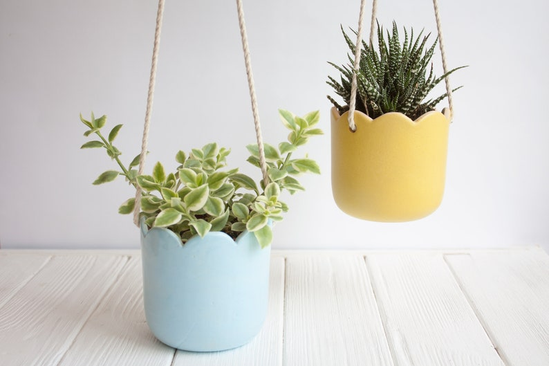 Ceramic hanging planter - Wall Planter - Plant Hanger - Ceramic Pot - Plant  Holder - Succulent Planter - Plant Pot - Wall planter indoor
