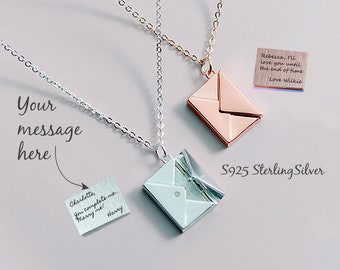 a733f5e450c Locket Necklace, Letter Locket Necklace, Secret Note Necklace, Message  Locket, Custom Locket, Personalized Locket,Mom Locket, Mother's Day