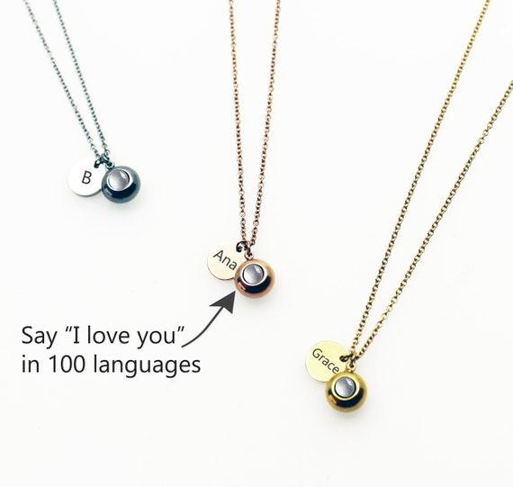 goedkope prijzen laatste stijl goedkoop kopen Personaliseren ketting, ketting liefde, 100 talen ik hou van je ketting,  ketting van herinnering, projectie ketting, Infinity ketting, aangepaste