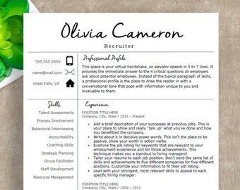 Creative Resume Template | Professional Resume Template for Word | 1, 2 and 3 Page Resume Template, Cover Letter | Instant Download Resume