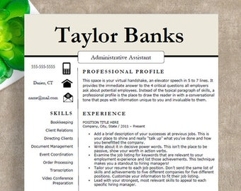 Professional Resume Template | Modern Resume Template for Word | Creative Resume Template, Cover Letter | Instant Download Resume