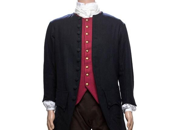 18ème siècle bleu laine civil manteau en laine bleu 8503e7