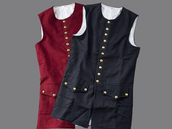 Mid 18th Century Wool Waistcoat w/ Working Pockets Z2SHybfCJC