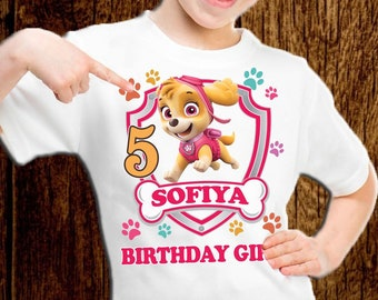 Paw Patrol Birthday Shirt Skye Personalized S015
