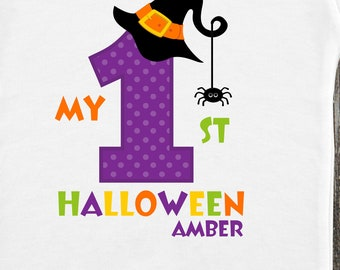 personalized witch my 1st halloween bodysuit shirt my first halloween
