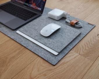 Ordinaire DESK MAT   Light Grey Wool 100% Felt   Desk Blotter Desk Pad Custom Size  Protector Workspace Mat Schreibtischunterlage Tapis De Bureau
