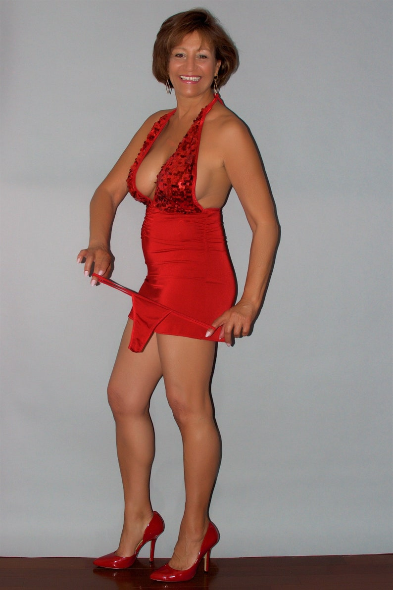 2d0ad2c9307 Women s Red Sexy Club Dress with matching Thong by