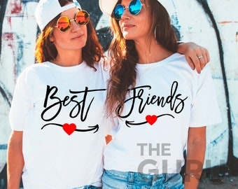 Beste Freunde Hemden Friends Shirt Bff Hemden beste Freunde, die passenden  Hemden beste Freund Geschenk beste Freund Hemd Bestie Hemden beste Freunde t-  ... 26fab38cfd