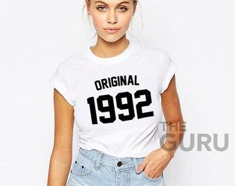 27th Birthday Shirt 1992 27 Gift Girl