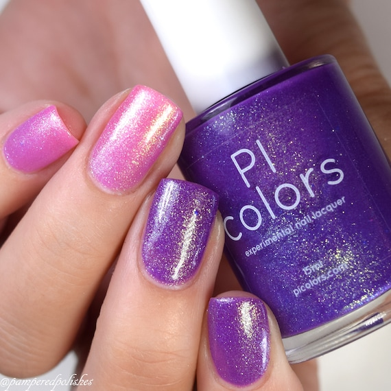 birds of paradise 011 purple pink nail polish color changing etsy