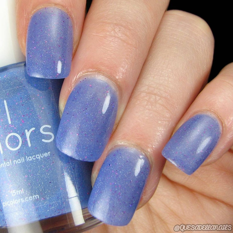 Blue Blaze 043 Blue Nail Polish To Light Blue Thermal Color Etsy