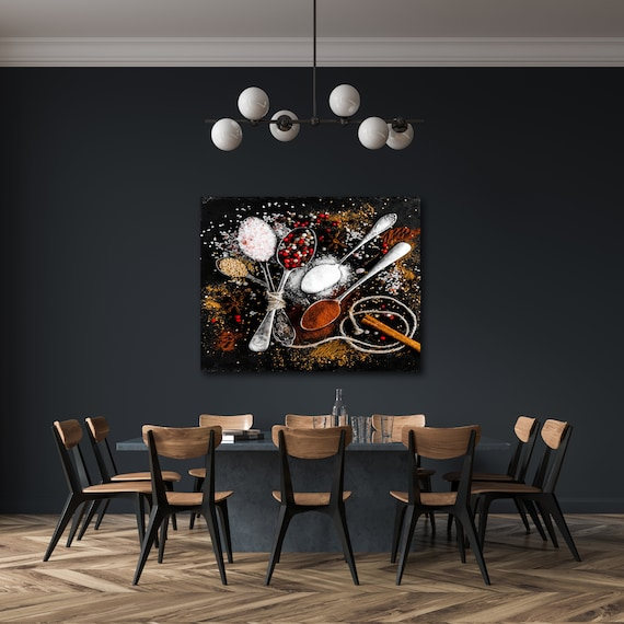 Kitchen Wall Art Nature Print Home Print Spices Canvas Wall Etsy