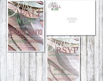 Lets Fall in Love Wedding Invitation