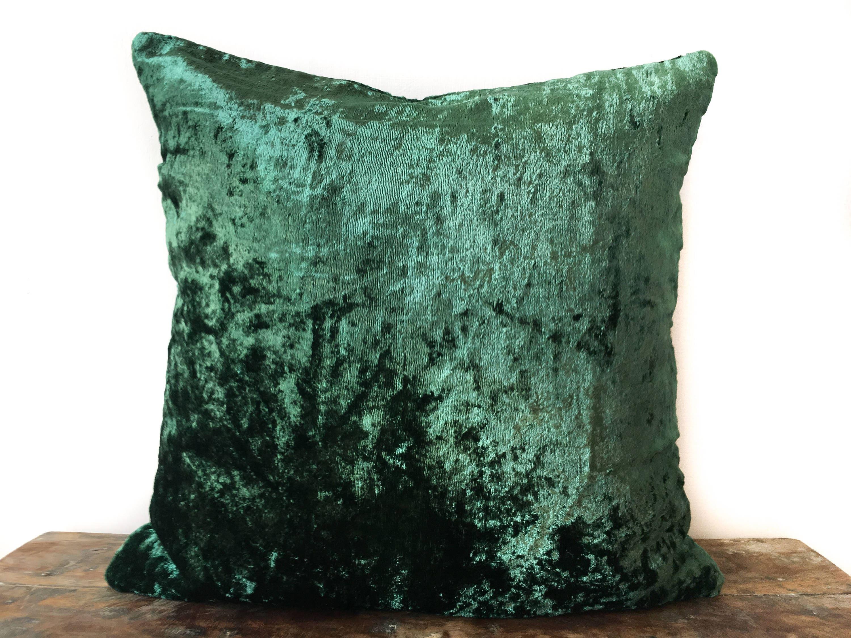 Emerald Green Velvet Pillow Cover 20x20 Throw Pillow 16x16
