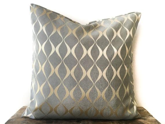 Dark Grey Gold Pillow cover 26x26 Euro