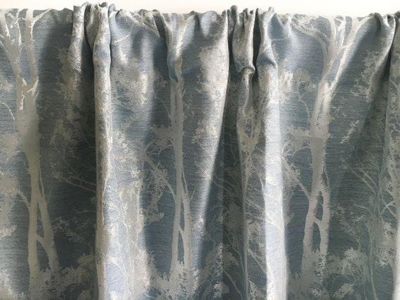 Steel Blue Curtains Silk Curtain Panels Blackout Curtains Etsy