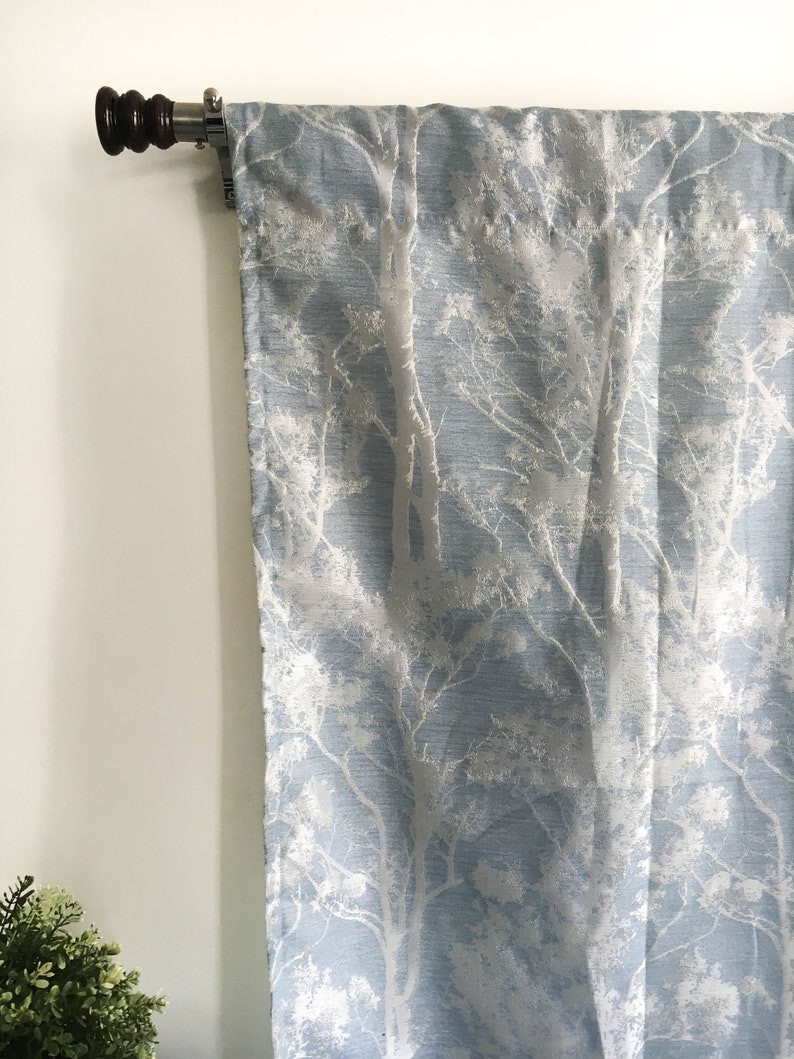 Blue Curtains Silk Curtain Panels Blackout Curtains Window Curtains Door Curtains Boho Kitchen Curtains 120 Inch Steel Blue Curtains