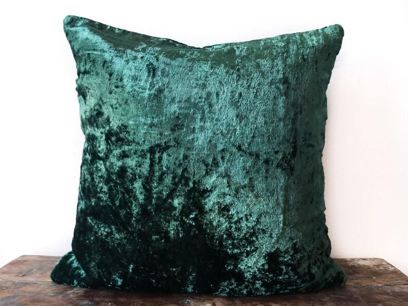 Emerald Green Velvet Pillow Cover 22x22 26x26 Euro Sham Etsy