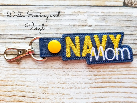 Navy Mom Keychain, Navy Mom Key Fob, Navy Keychain, Gift for Moms, Mother's Day Gift, Mom Keychain