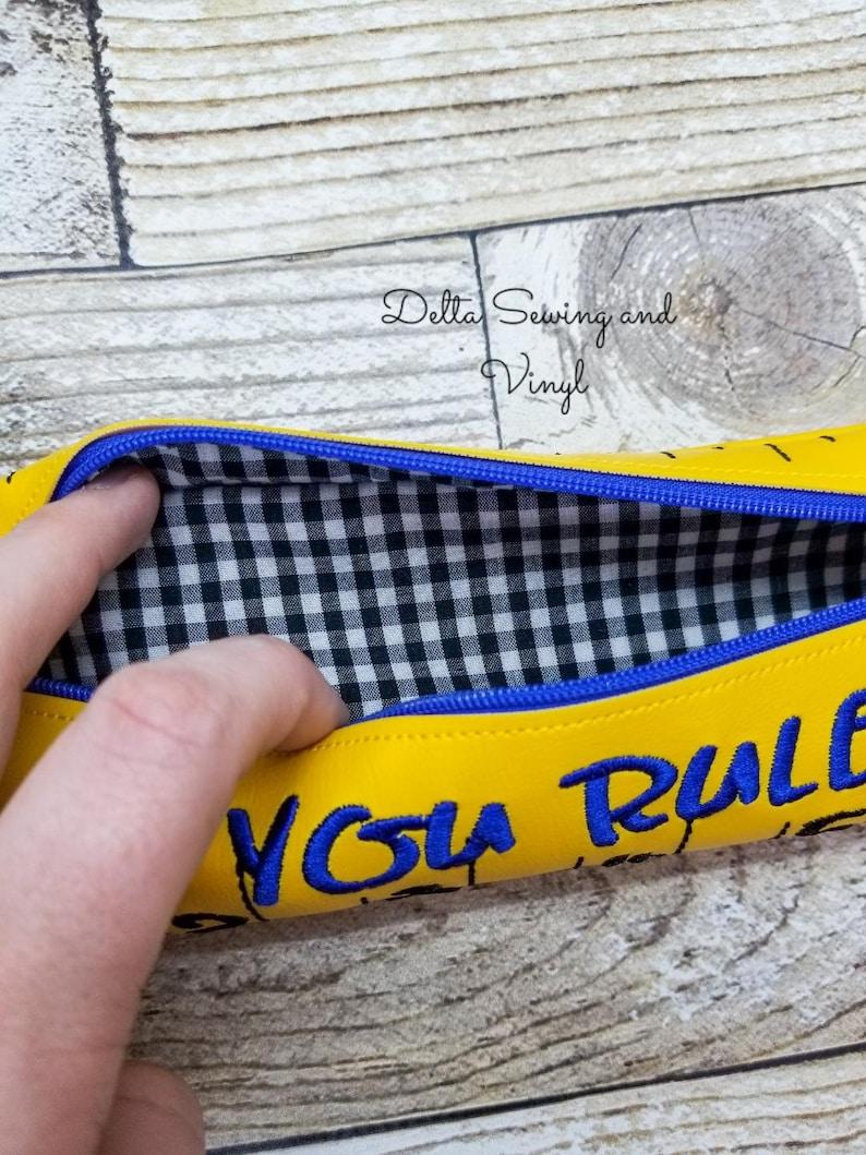 Ruler Pencil Case Back to School Pencil Zipper Pouch