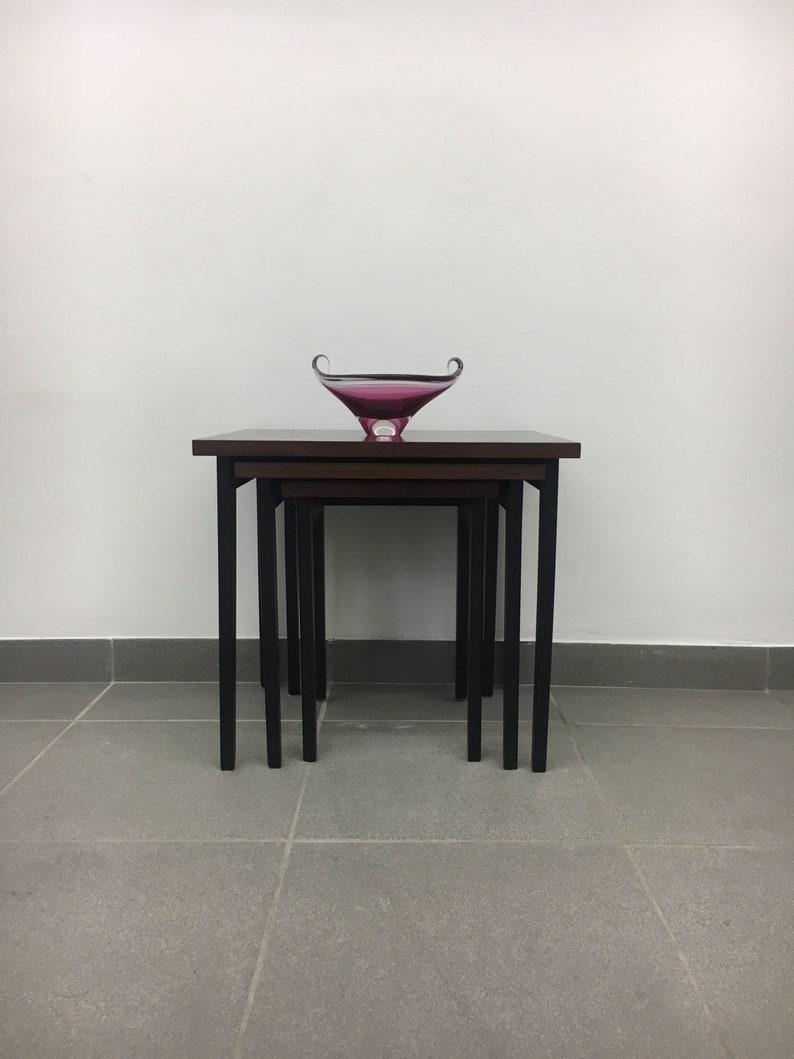 3 Plexiglas Bijzettafeltjes.Set Of Nesting Tables Vintage Mimiset Bijzettafeltjes Jaren 60 Etsy