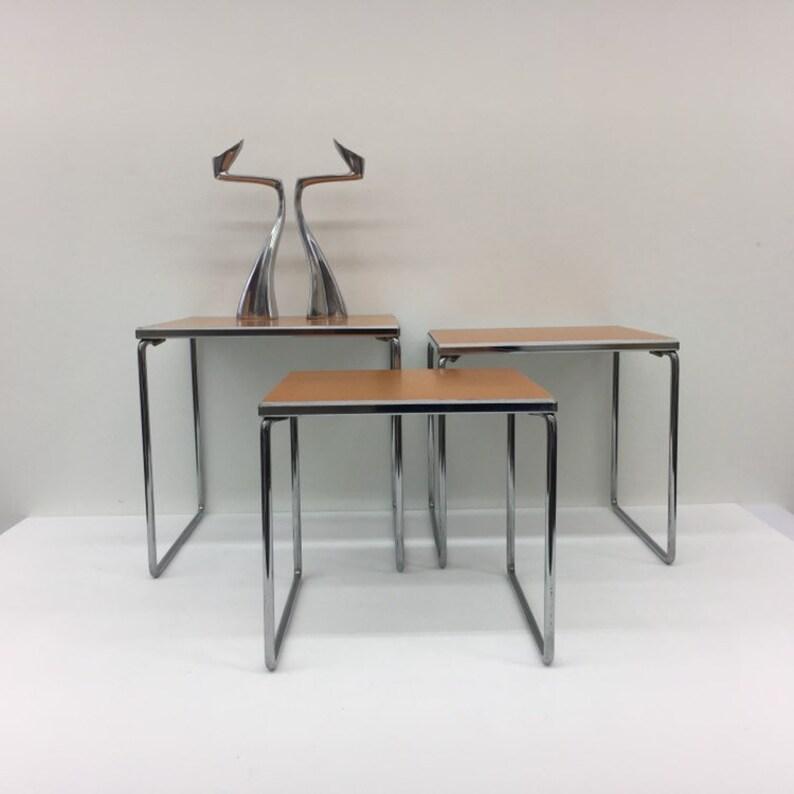 3 Plexiglas Bijzettafeltjes.Vintage Brabantia Set Nesting Tables 1970 S Etsy