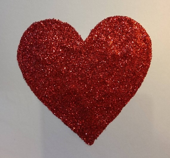 Glitter Heart WeddingEngagementValentines Card **OTHER COLOURS AVAILABLE**