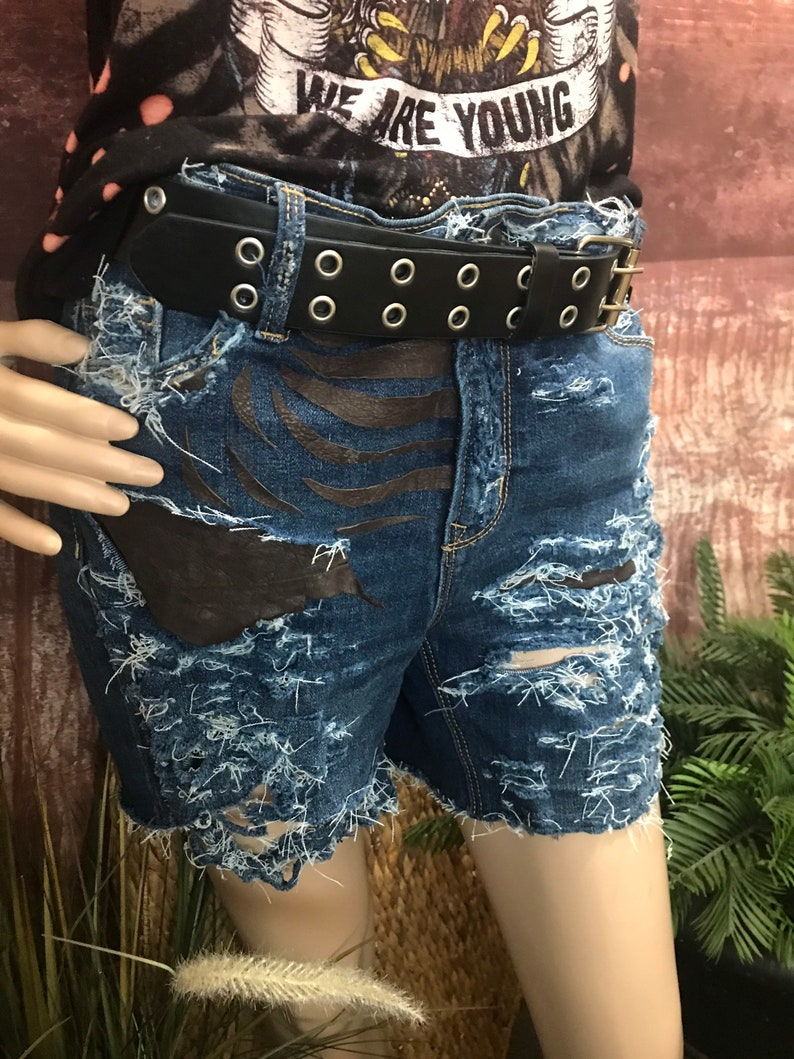 Shredded Jean /& Leather Shorts!