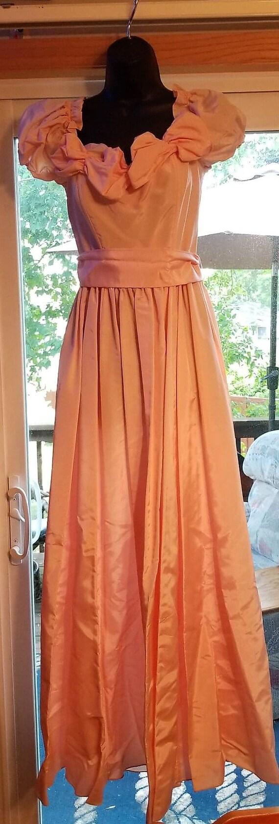 1980s vintage Gunne Sax Romantic Renaissance pink
