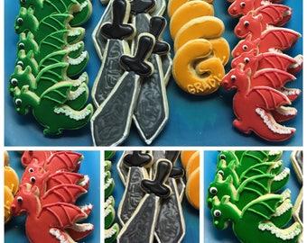 Dragon Birthday Cookies - Gluten Free Available
