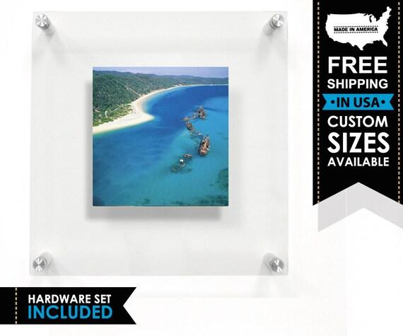 Floater Frame Custom Photo Floating Frame Frameless Frame | Etsy