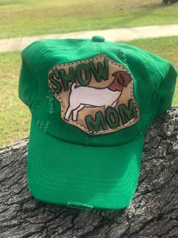 38187046c Customizable Stock show mom trucker hat--choose your animal