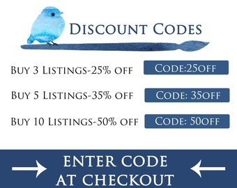 DO NOT buy this listing. Enter Coupon Code  to Get Discount at Checkout.