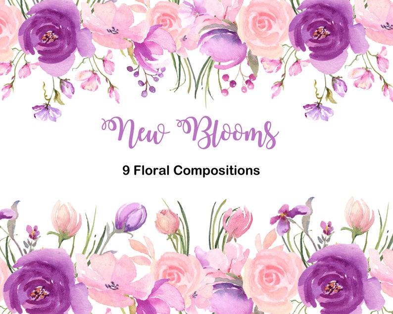 Dulce Primavera De Flores De Color Purpura Rosa Y Lavanda Etsy