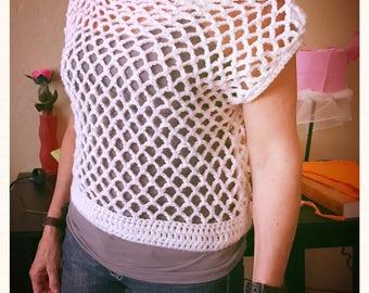 White shirt made in Crochet