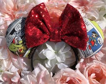 Pinocchio/ puppet/ ears/ comic/ classic/ headband/ bow