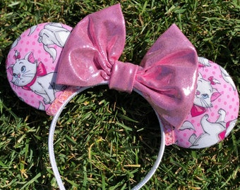 toddler size/ marie/ cat/ kitty/ pink/ white/ cute/ headband/ bow