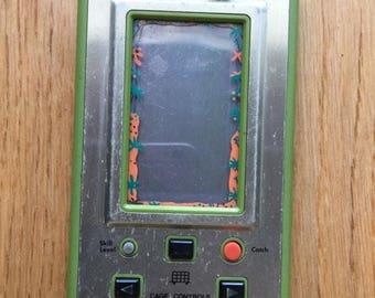 Nintendo wide screen, hand held console game & watch HUNTER retro game