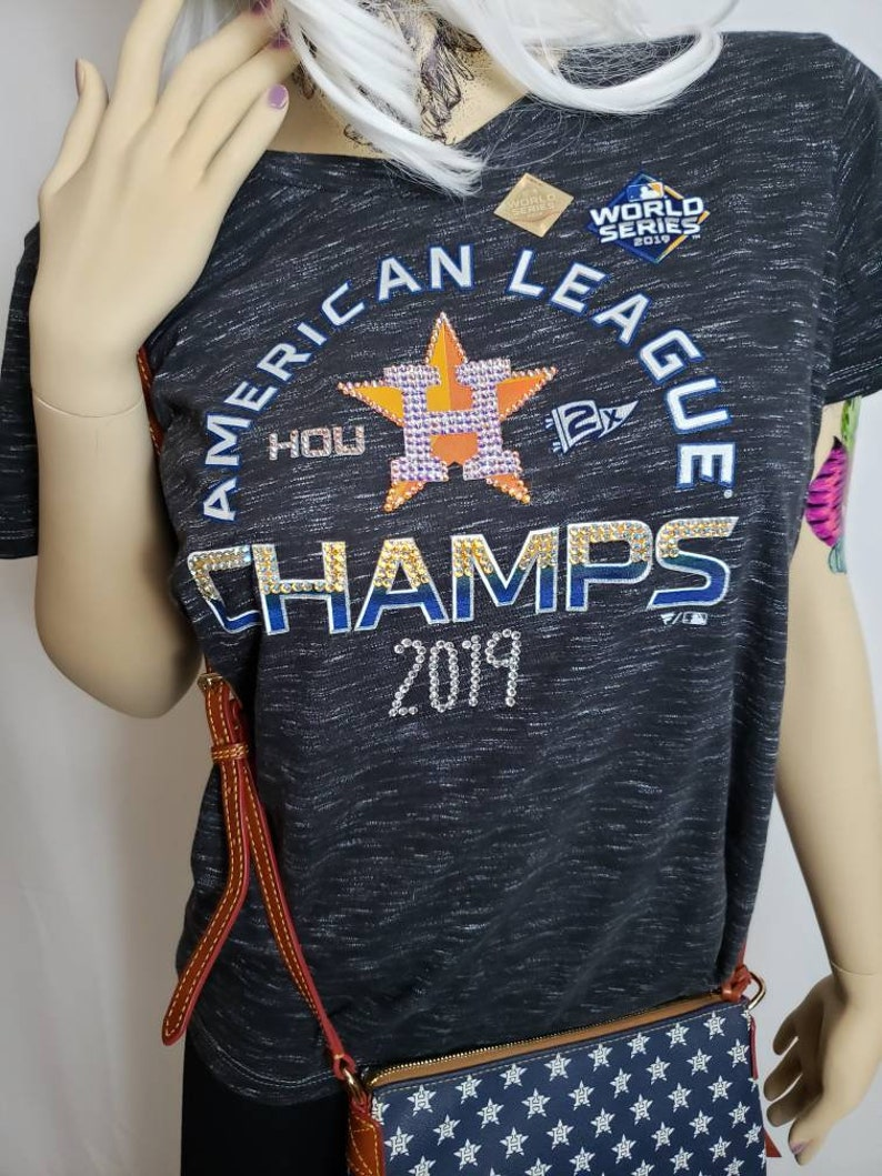 Customized Houston Astros Womens V neck fitted T shirt