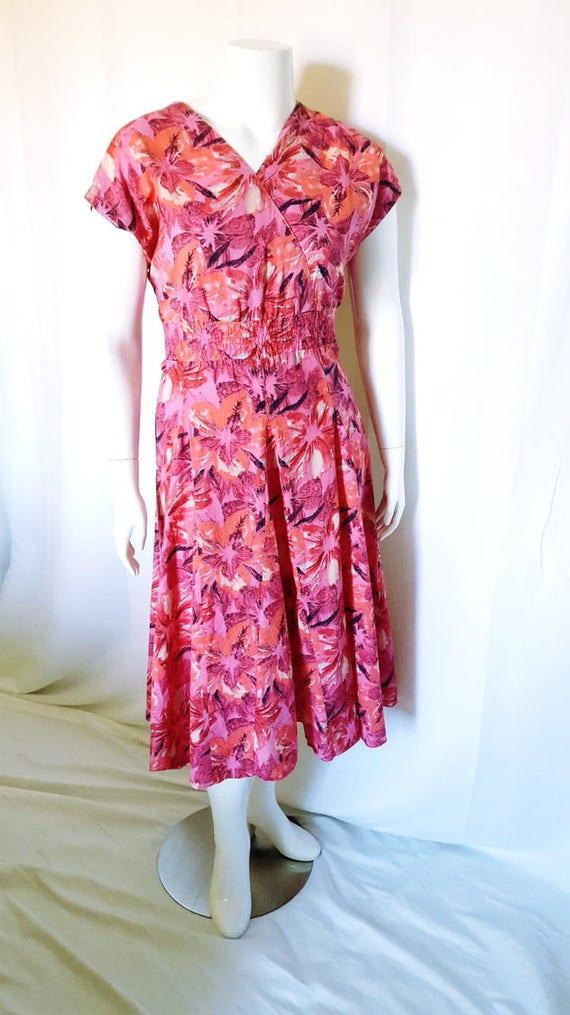 096f7829eec 1980s Blair floral day dress   size XXL 18   plus sized