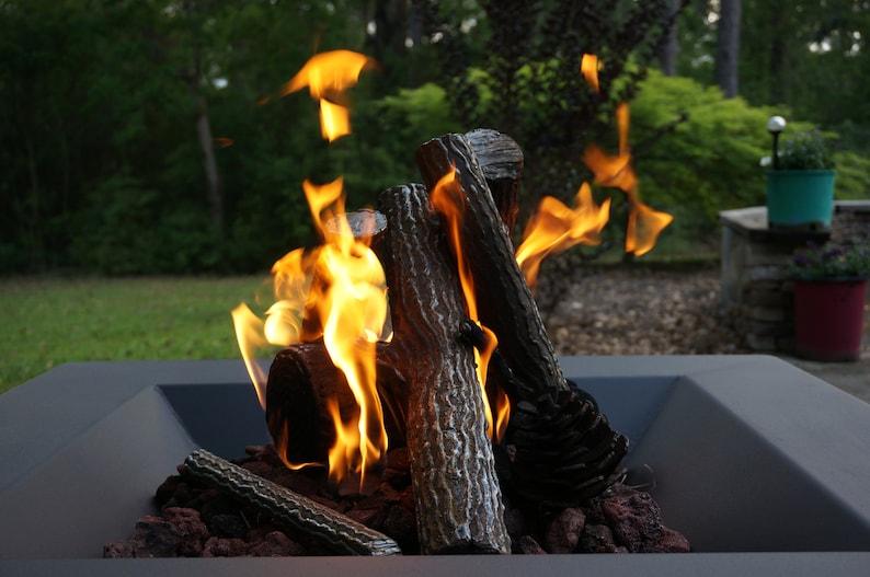 Sensational Gas Fire Pit Custom Steel Logs Download Free Architecture Designs Philgrimeyleaguecom