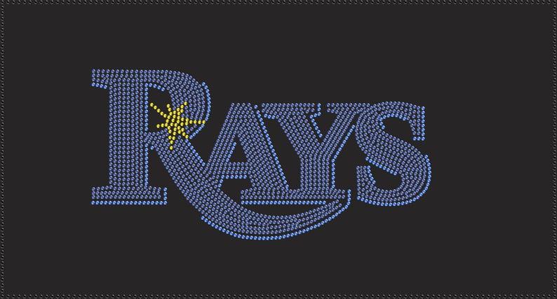 TB Rays Baseball Rhinestone Iron on Transfer