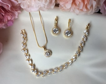 Crystal Wedding Jewellery, Bridal Jewellery, Bridesmaid Gifts, Mother of the Bride Gift, Bridal Jewellery Set, Bridal Crystal Drop Earrings
