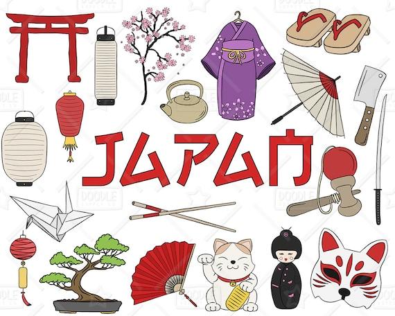 japan clipart vector pack japanese doodles asia clipart rh etsy com japanese clip art color book japanese clip art color book