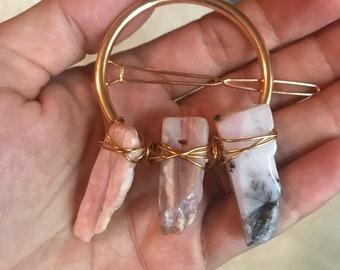 Crystal goddess hair clips