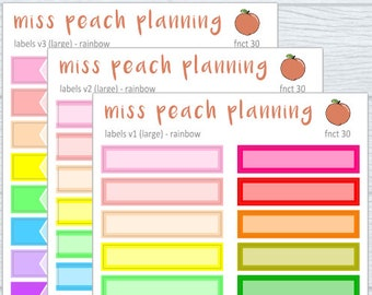 label stickers || planner stickers || fnct 30