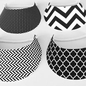 Black and White Foam Visors 1b70799c7fb